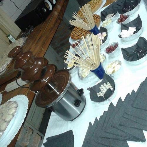 alquiler de cascada para fondue de chocolate