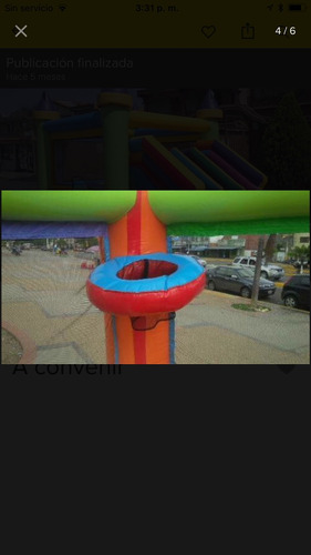 alquiler de castillo inflable 5x5 con techo
