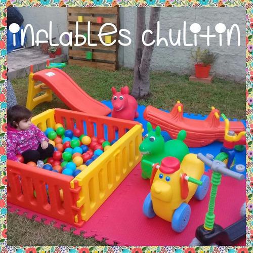alquiler de castillo inflable, plaza blanda, metegol, tejo.