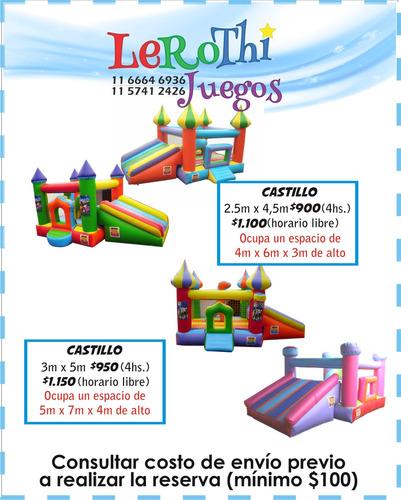 alquiler de castillos inflables - moron - zona oeste -