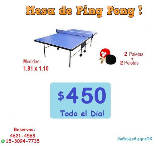 alquiler de castillos, pool, ping pong, living. zona oeste.