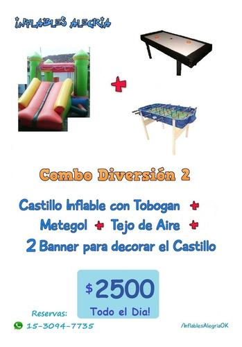 alquiler de castillos, pool, ping pong, living, zona oeste.