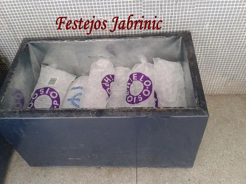 alquiler de cavas de alumino galvanizadas, mesas cocteleras