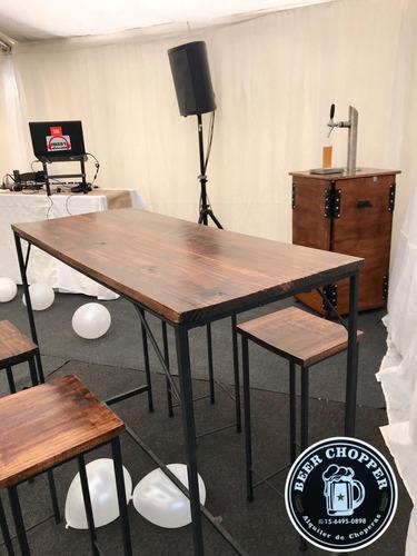 alquiler de choperas, mesas estilo bar,jenga, beer pong