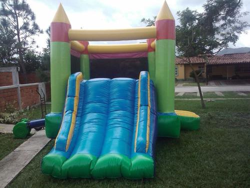 alquiler de colchon inflable, cama elastica y piscina