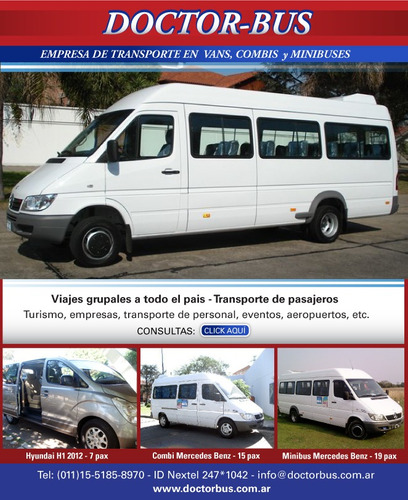 alquiler de combis minibuses  traslados viajes aeropuerto
