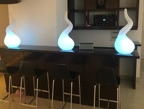 alquiler de combo de muebles luminoso mesa, pared decoración