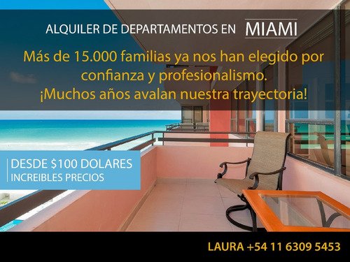 alquiler de departamentos en miami - salida directa al mar