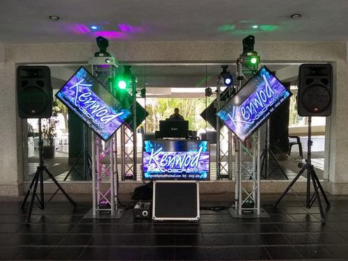 alquiler de discplay, miniteca, karaoke, sonido, iluminacion