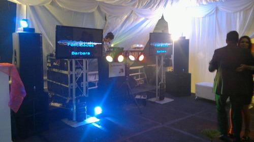 alquiler de discplay, sonido, música, fuego frio, video beam