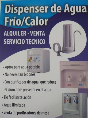 alquiler de dispenser frío-calor, venta de purificadores
