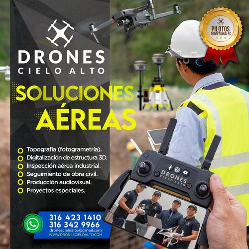 alquiler de drone en bogota, piloto certificado dron