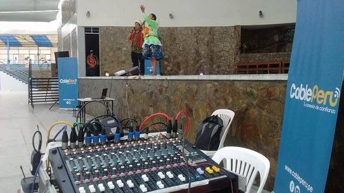 alquiler de equipo de sonido profesional en los olivos