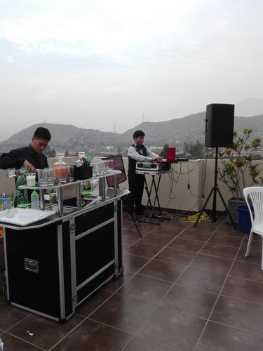 alquiler de equipo de sonido,dj,bar movil a domicilio,mozos