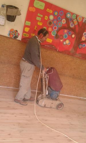 alquiler de equipo para pulir pisos de madera o parquet