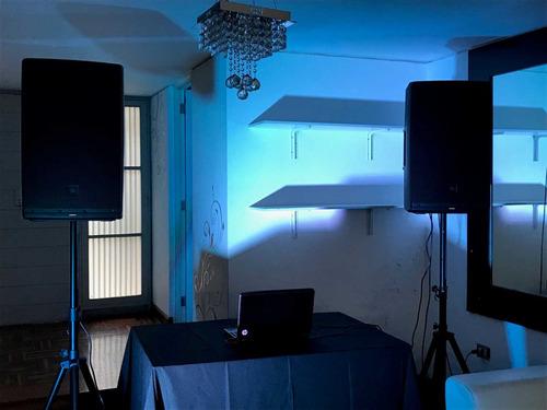 alquiler de equipos de sonido, luces, dj, proyector