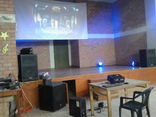 alquiler de equipos de sonido, luces led, dj y proyector