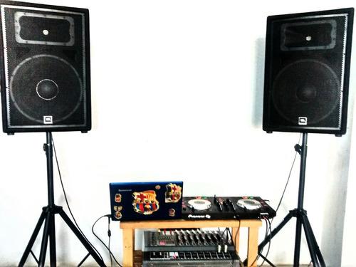 alquiler de equipos de sonido, micrófono shure y dj s/.400