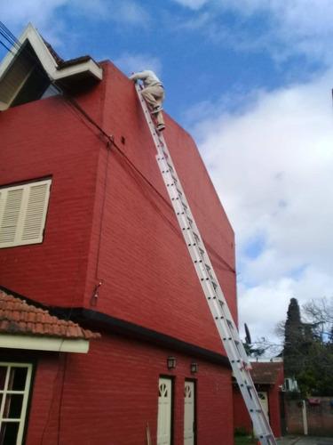 alquiler de escalera extensible  de aluminio 7, 9 y 12 mt y