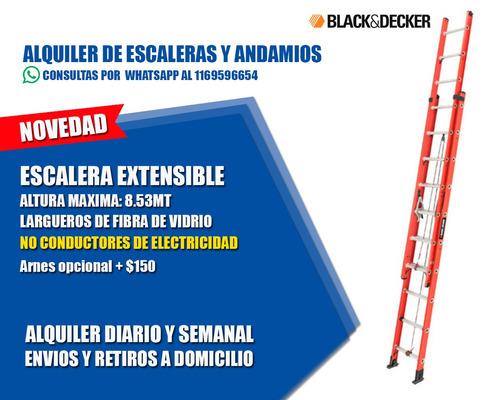 alquiler de escalera extensible dielectrica envíos caba