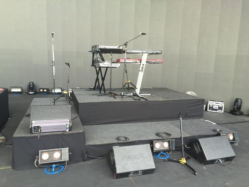 alquiler de escenarios tarimas modulares sonido luces