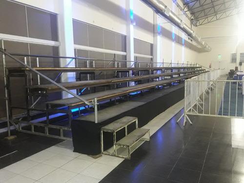 alquiler de escenarios,sonido,vallas,atril,tribunas