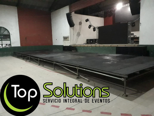 alquiler de escenarios,vallas,pisos, carpas, estructuras