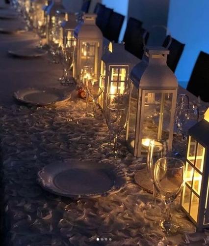alquiler de faroles fanales y velas led de parafina