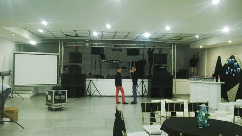 alquiler de festejos, sonido e iluminación profesional