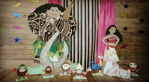 alquiler de figuras en mdf moana mesa fantasia candy bar