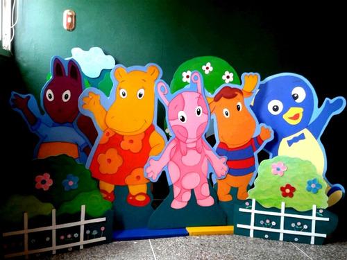 alquiler de figuras en mdf para fiestas infantiles