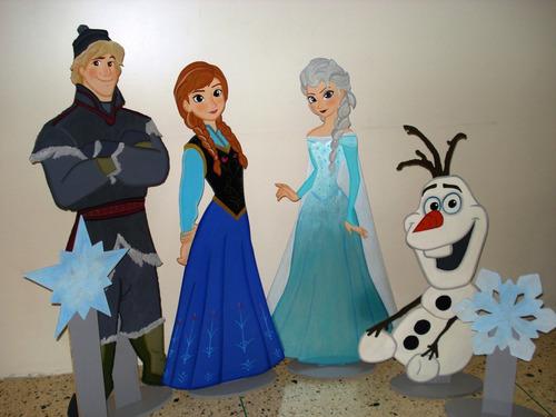alquiler de figuras mdf  y decoración frozen
