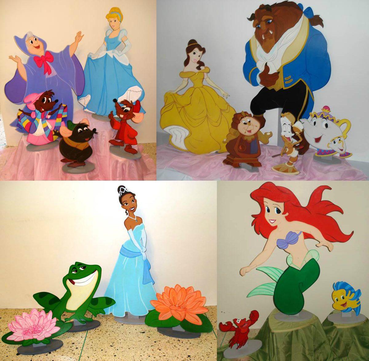 Alquiler de figuras mdf y decoraci n princesas disney en for Muebles de princesas disney