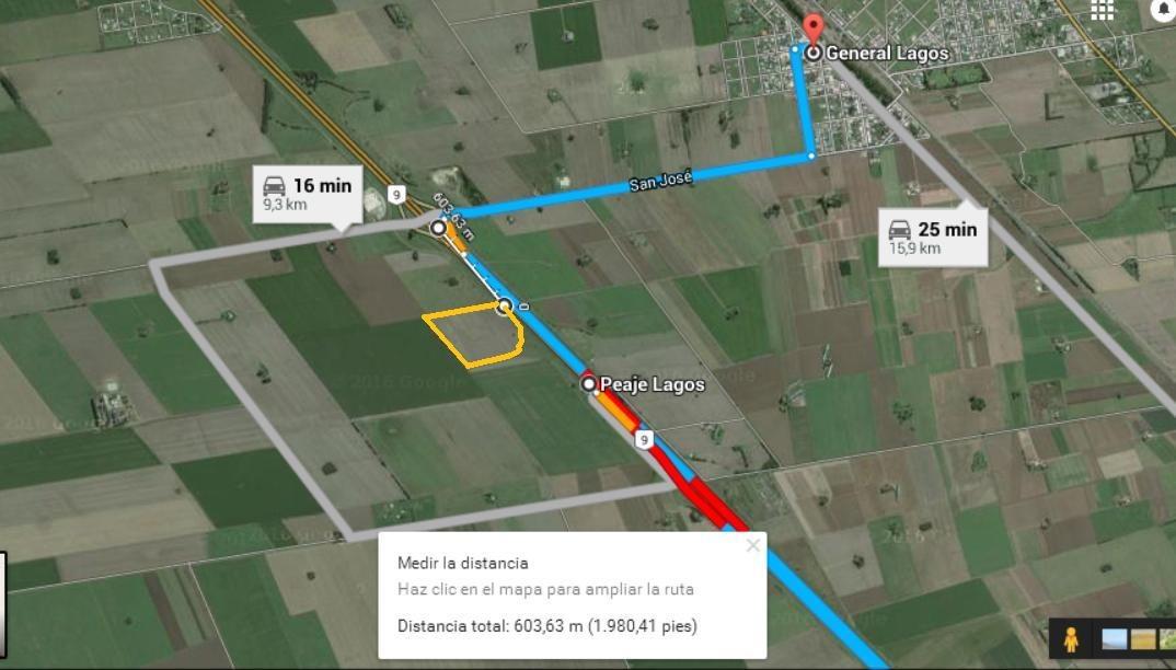 alquiler de gran fraccion de terreno. 12 hectareas sobre au rosario bsas.