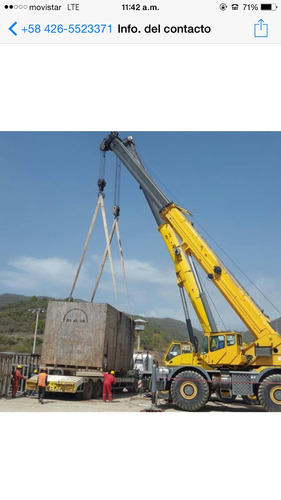 alquiler de grúas telescópicas certif y transportacion pesad
