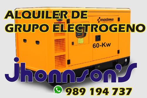 alquiler de grupo electrogeno de 60 kw.
