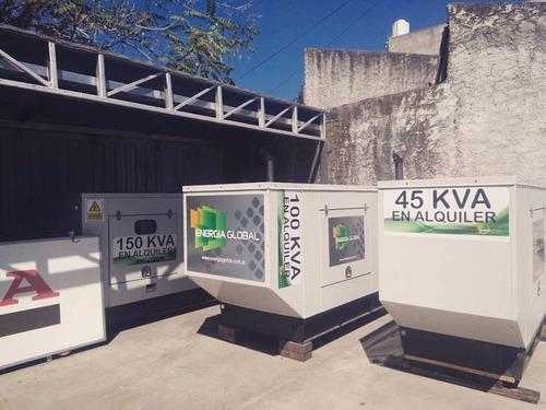 alquiler de grupos electrogenos 40 / 30/ 25 kva