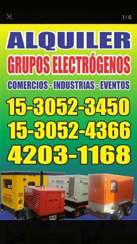 alquiler de grupos electrogenos para eventos comercios