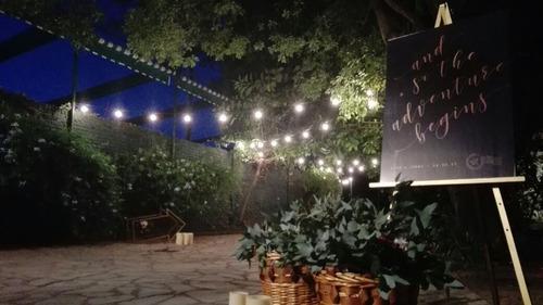alquiler de guirnalda de luces tipo kermesse