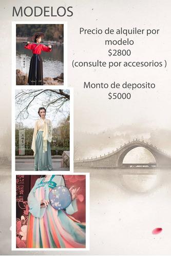 alquiler de hanfu vestimenta china origen de kimono p/hombre