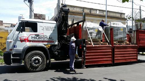alquiler de hidrogruas y transporte- grúas rojas