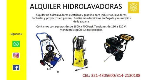 alquiler de hidrolavadoras a gasolina y eléctricas industria