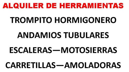 alquiler de hormigonera trompito mezcladora (herramientas )