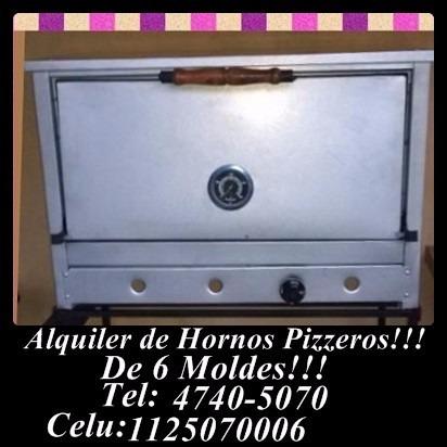 alquiler de hornos pizzeros.