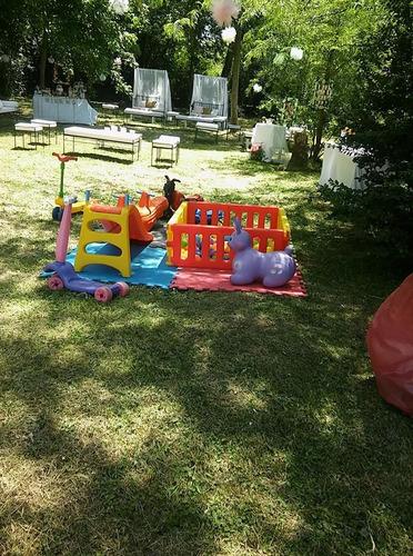 alquiler de inflable  acuatico, plazablanda castillo pool