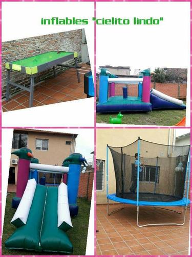 alquiler de inflable, cama elastica, plaza blanda y living