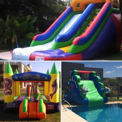alquiler de  inflables acuaticos , castillos , plaza blanda