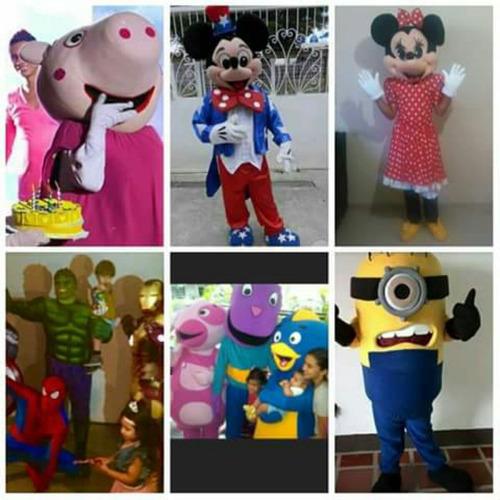 alquiler de inflables animacion personajes infantiles