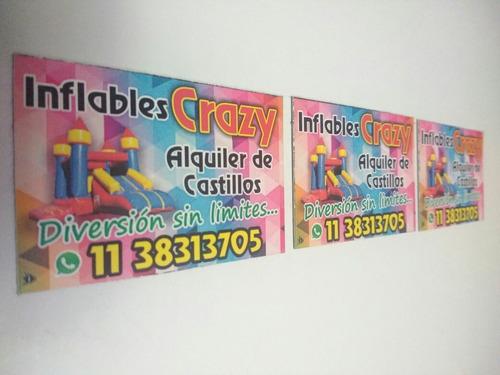 alquiler de inflables crazy - zona oeste