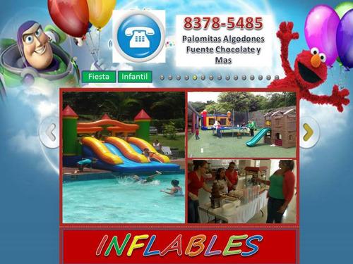alquiler de inflables, golosinas y animación